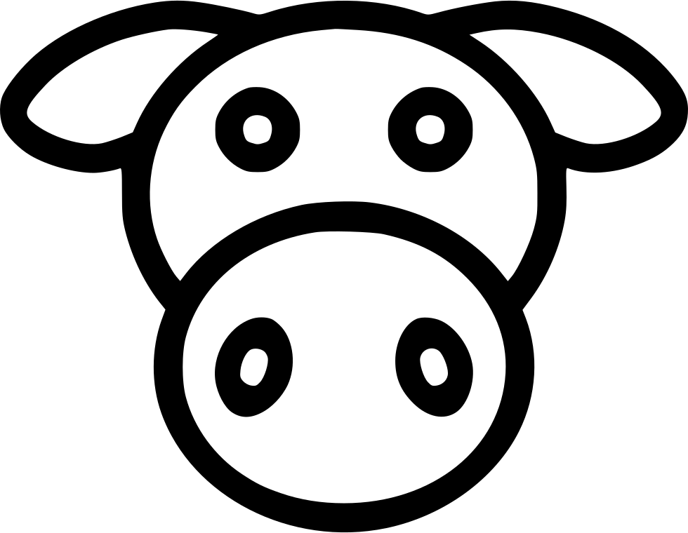 Cow Livestock Dairy Milk Svg Png Icon Free Download (#448108