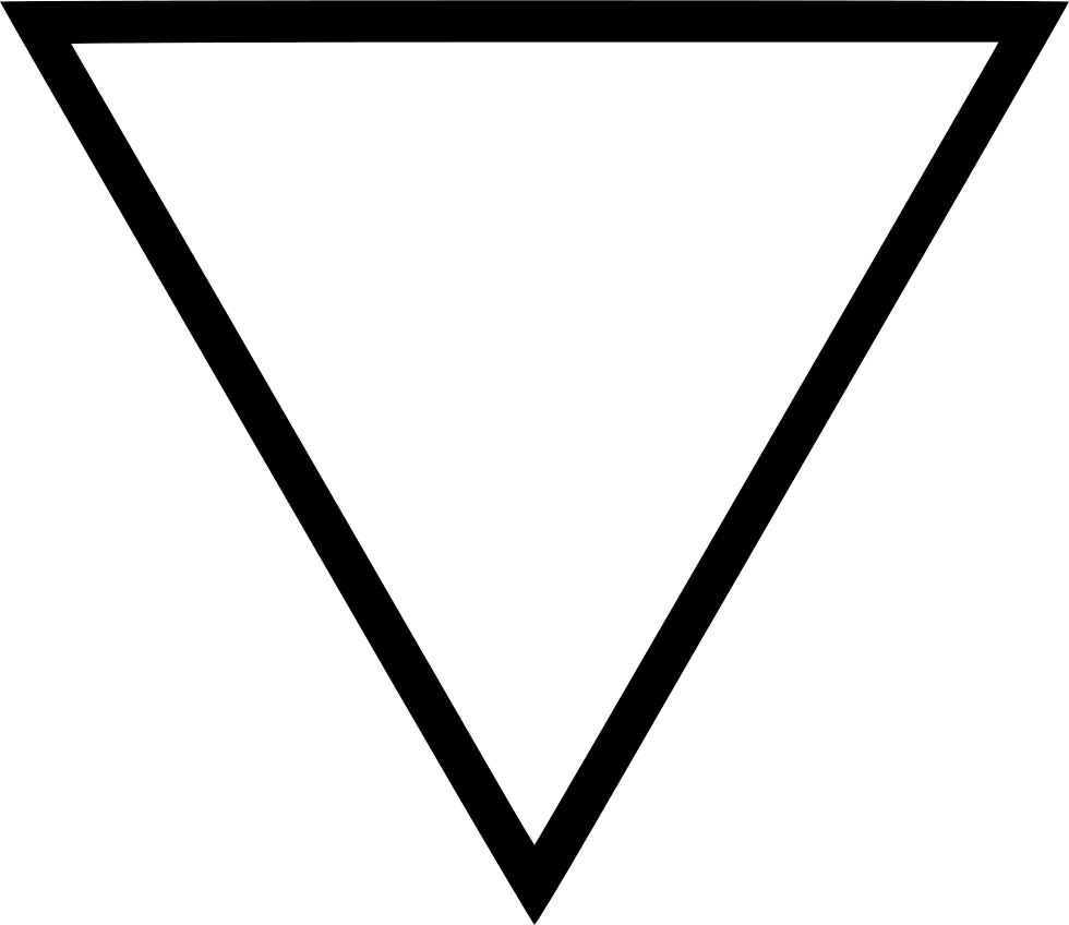 Inverted Triangle Svg Png Icon Free Download 448734