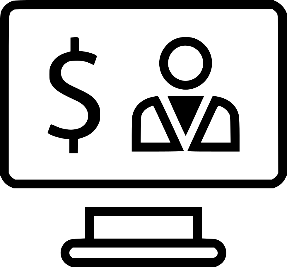 Dollar Sign Computer Screen Website Svg Png Icon Free