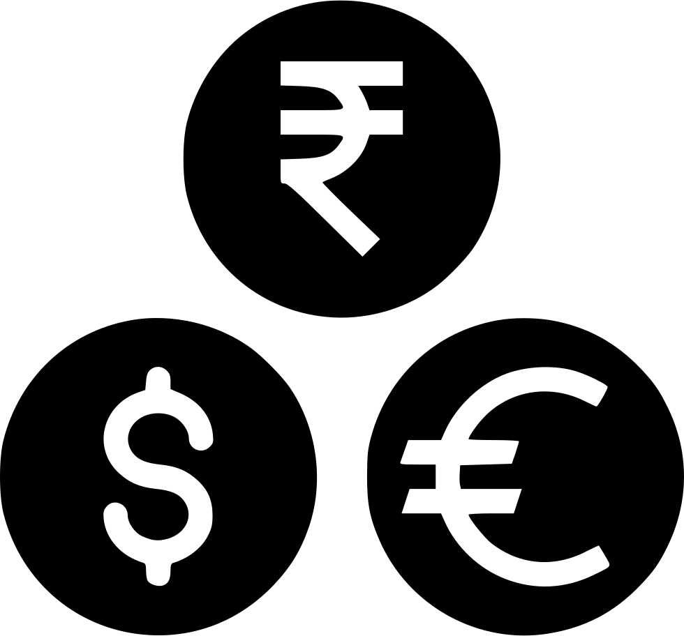 Indian Rupee Dollar Euro Currency Coin Money Svg Png Icon ...  Indian Rupee Do...