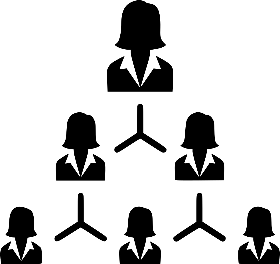 hierarchy people management structure organization women svg png icon free download   454252