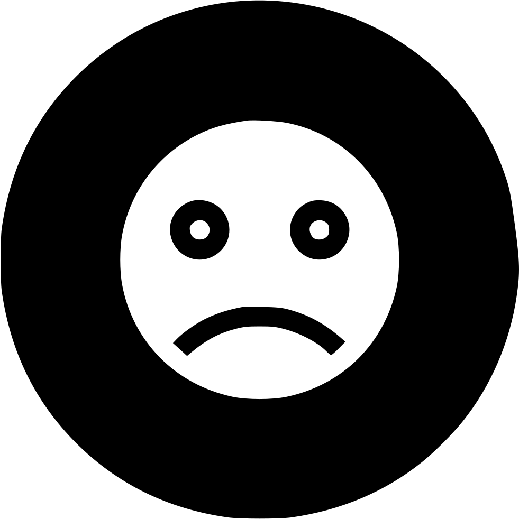 Sadness Sad Face Smiley Emoji Sign Svg Png Icon Free ...