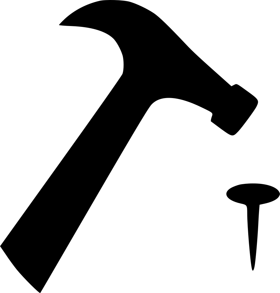 Hammer Nail Svg Png Icon Free Download 455600 Onlinewebfonts Com