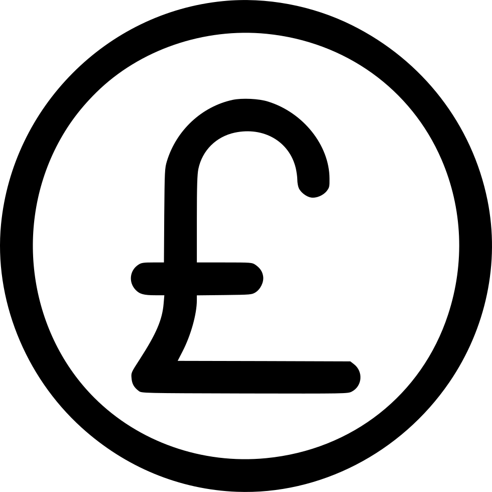 Currency Pound Financial Ecommerce United Kingdom Uk Svg Png Icon