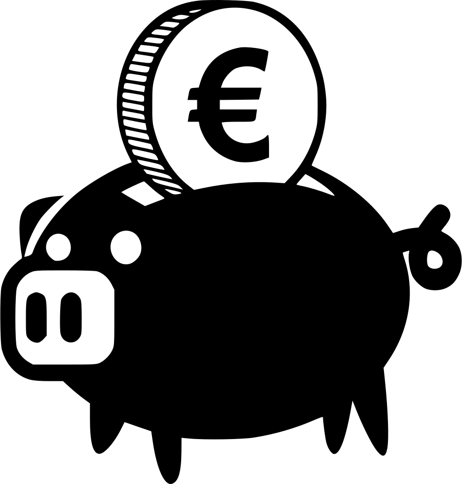 Piggy Bank Euro Svg Png Icon Free Download (#456611 ...