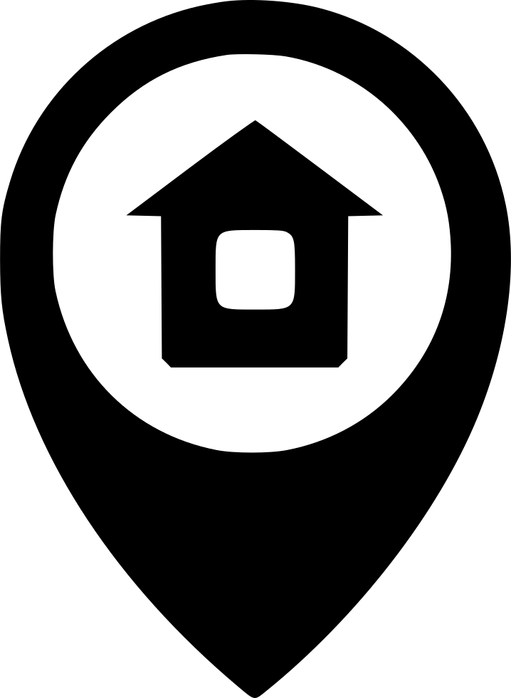 Geo Pin With House Logo - Vector Download