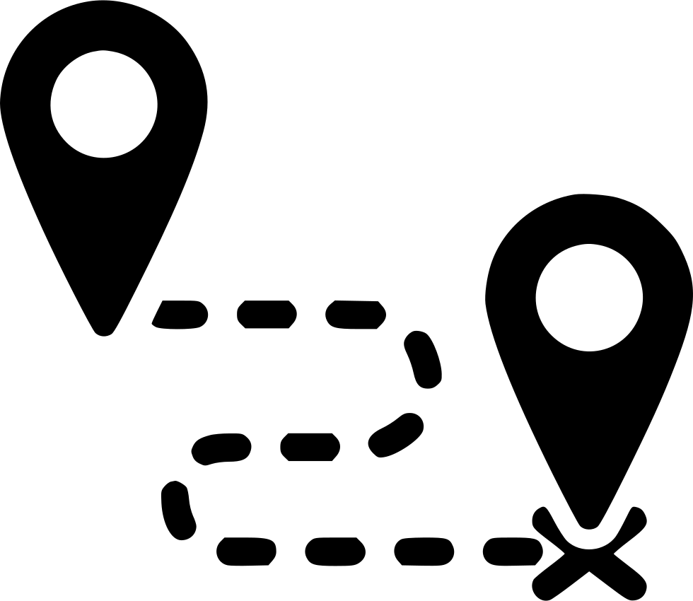 Destination Route Direction Way Map Distance Svg Png Icon Free - Map route distance