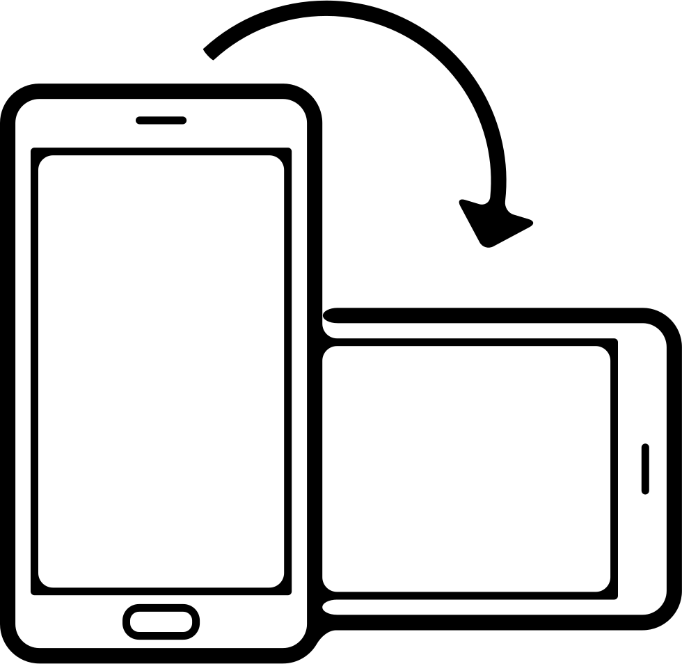 phone position rotation from horizontal to vertical svg png icon