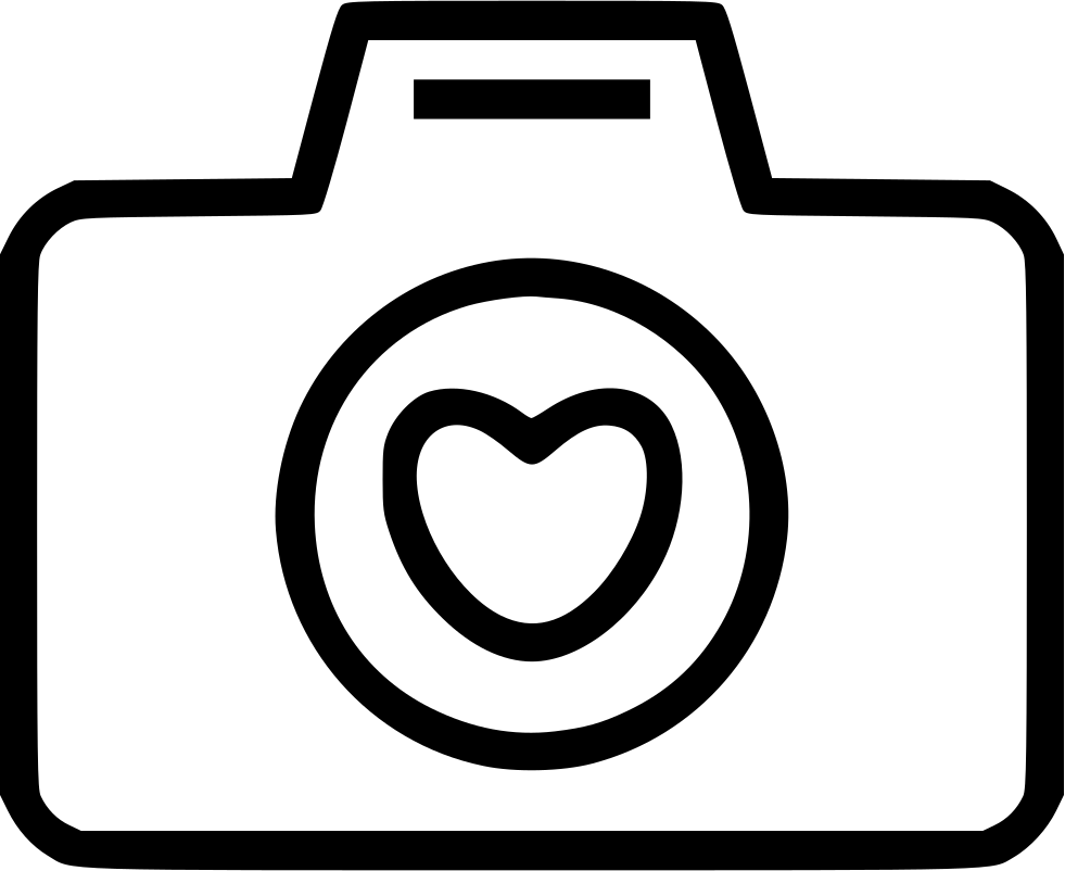 Camera Love Heart Svg Png Icon Free Download (#469256 ...