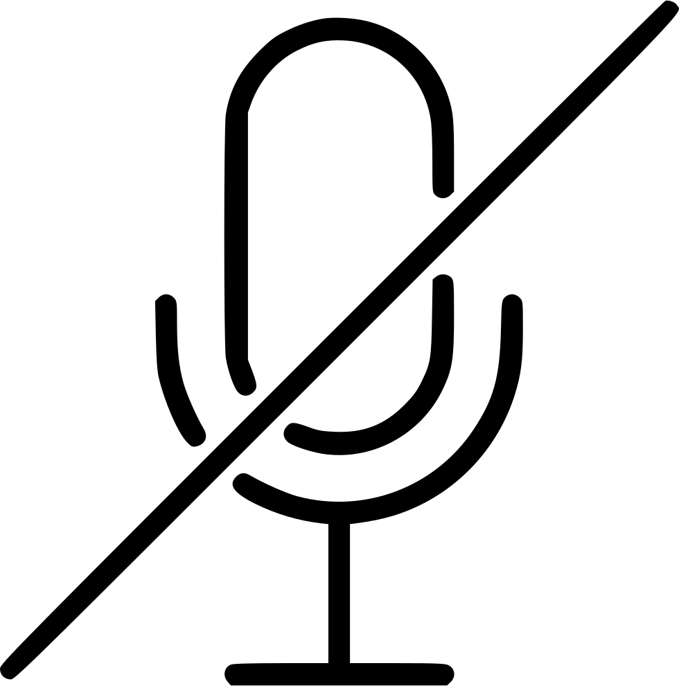Audio Mic Microphone Record Broadcast Mute Svg Png Icon Free ...