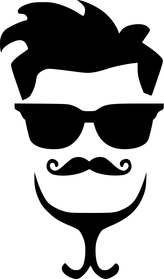 Gay Hipster Man Hair Fasion Style Glasses Svg Png Icon