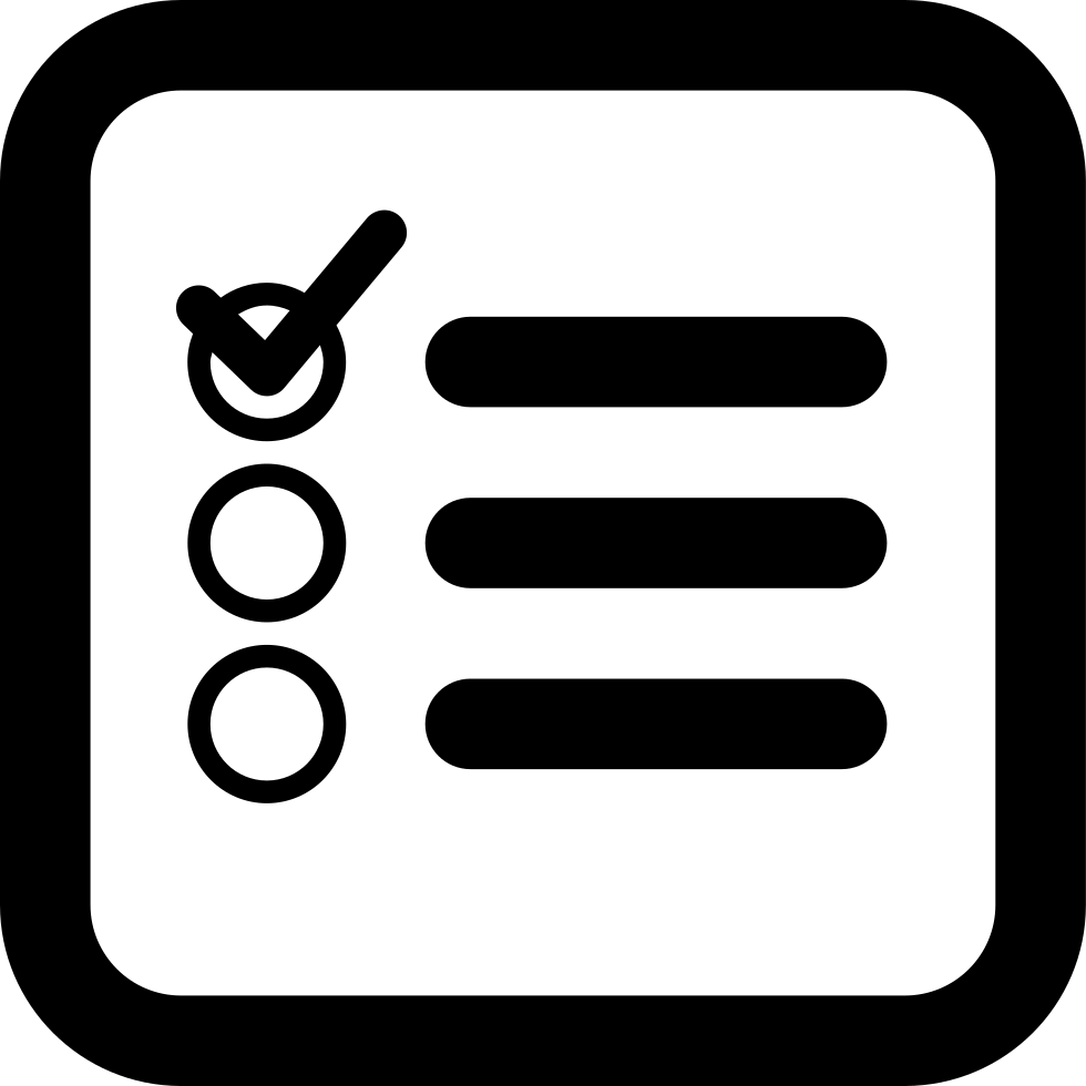 checklist square interface symbol of rounded corners svg png icon