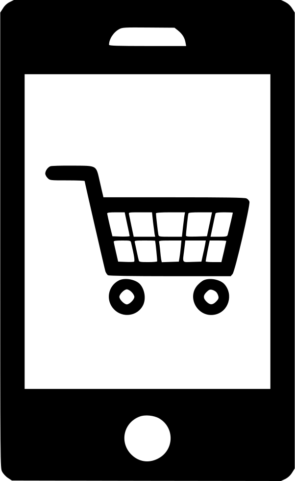Shopping Cart Ecommerce Mobile Smartphone Svg Png Icon