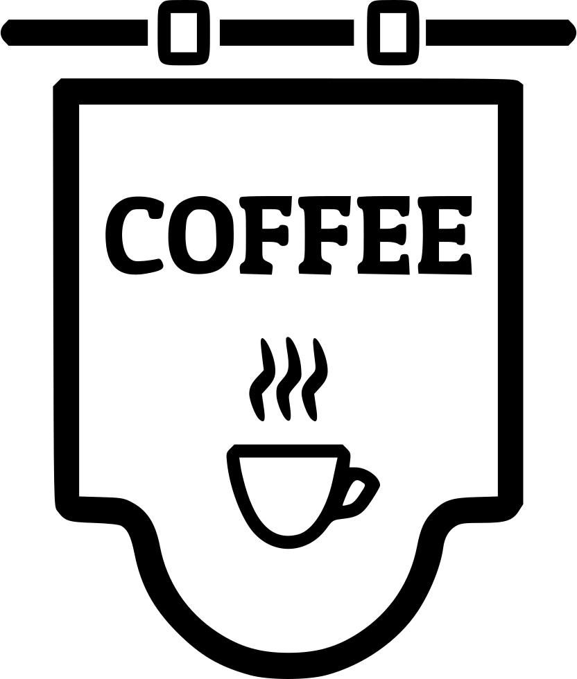 coffee shop sign svg png icon free download 477885 onlinewebfonts com. Black Bedroom Furniture Sets. Home Design Ideas