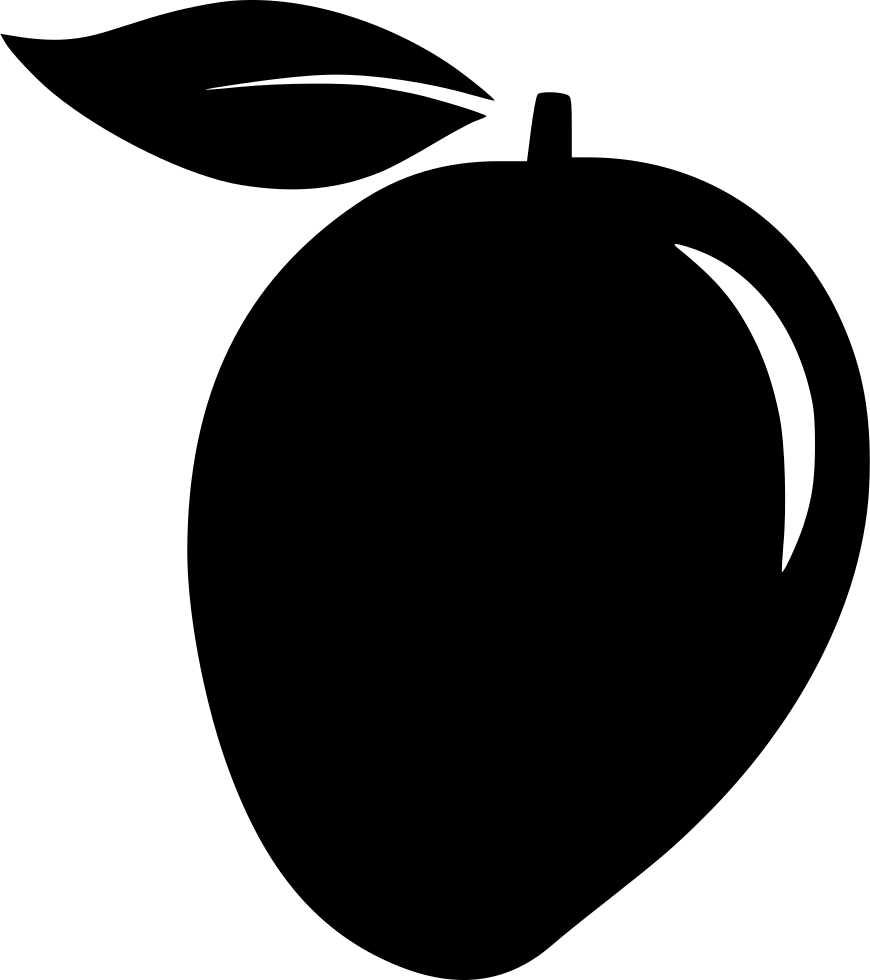 34   Amazing Mango Clip Art Black And for Clipart Mango Black And White  557yll