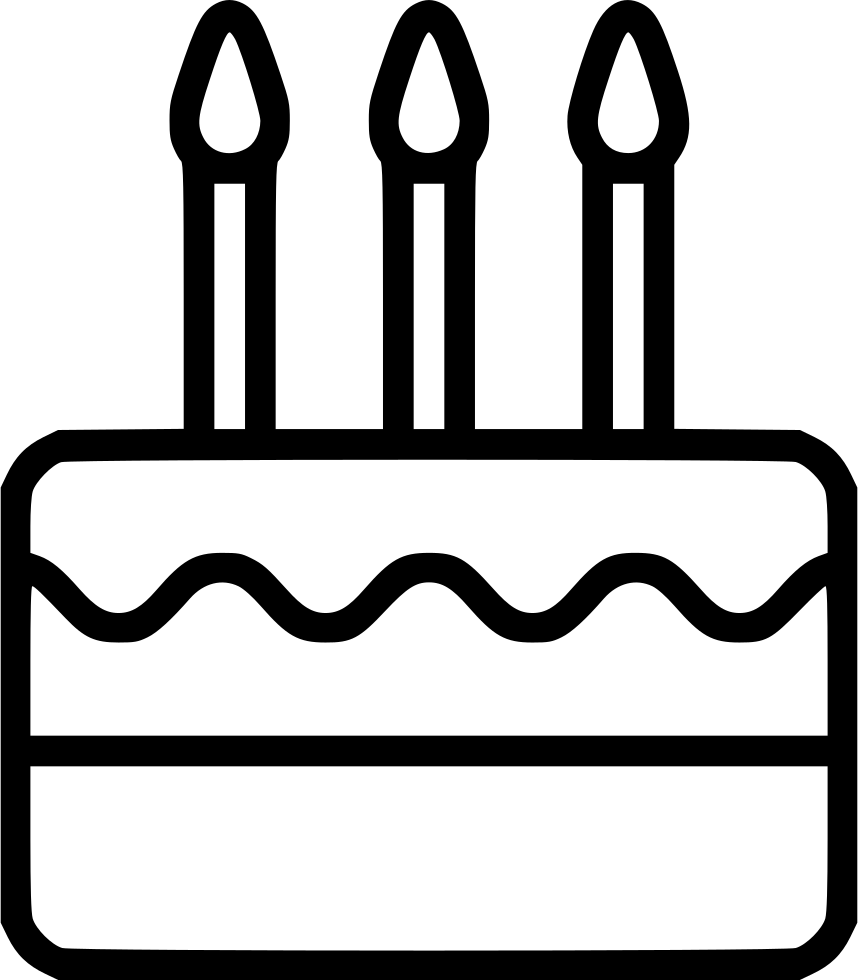 Birthday Cake Svg Png Icon Free Download 480285 Onlinewebfonts Com