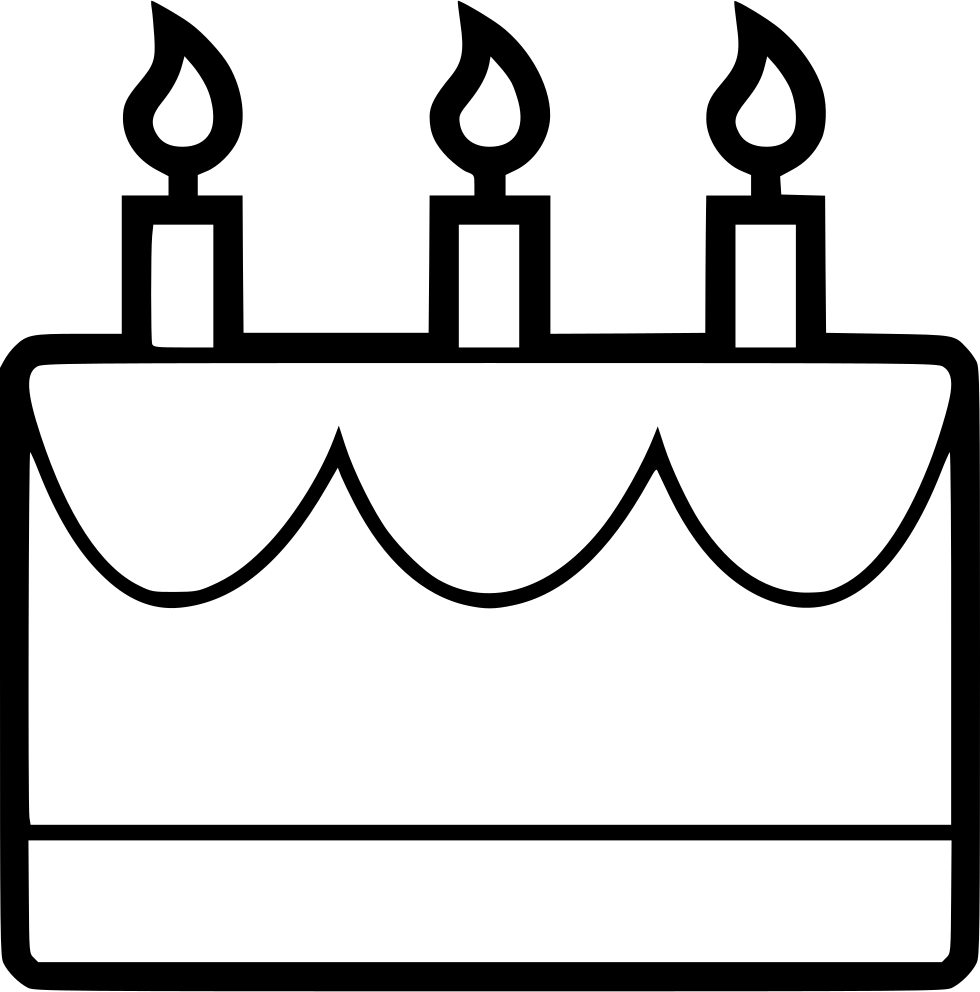 Birthday Cake Svg Png Icon Free Download 481093 Onlinewebfonts Com