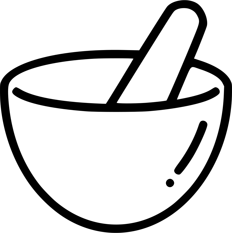 Mortar Pestle Hand Grind Mix Bowl Svg Png Icon Free Download ... for Mortar And Pestle Drawing  56bof