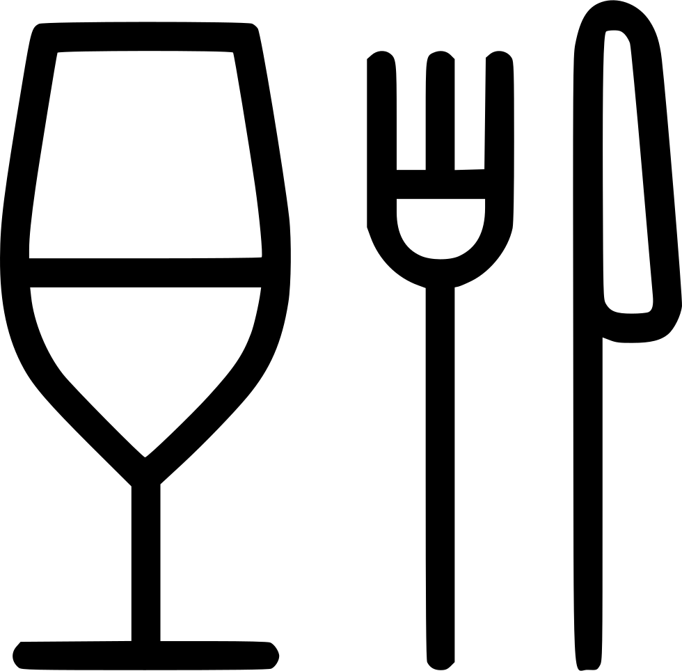 Glass Fork Knife Restaurant Food Svg Png Icon Free ...
