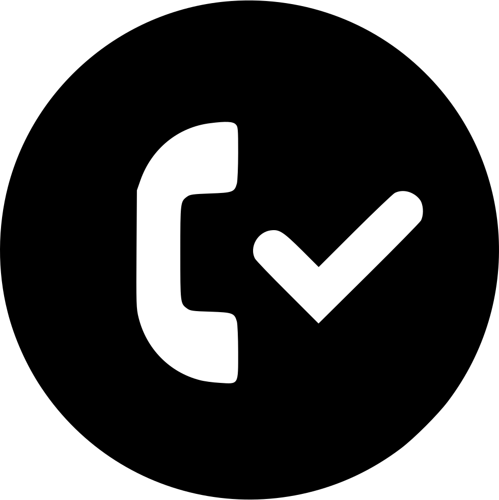 Accepted Call Checkmark Circle Svg Png Icon Free Download