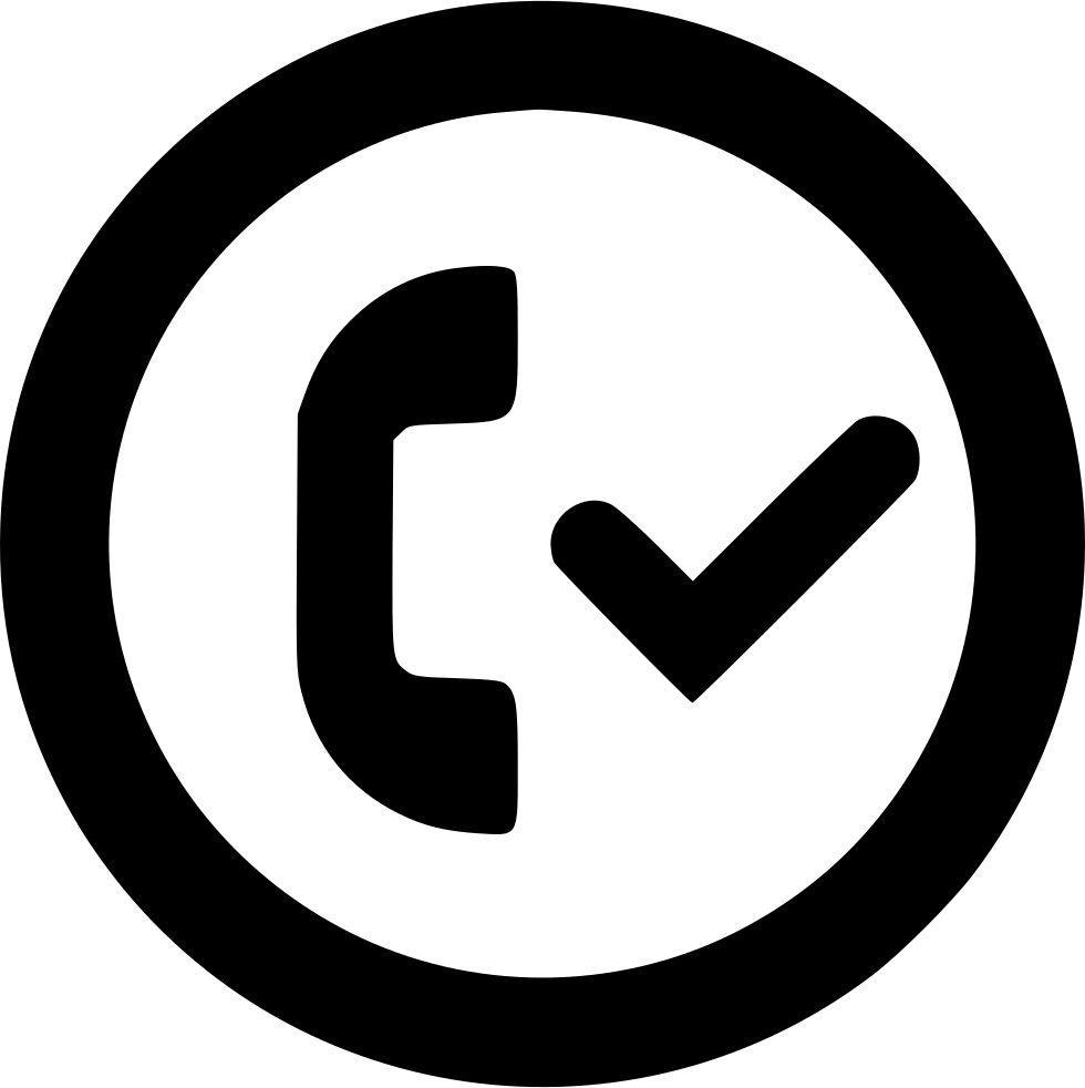 Accepted Call Checkmark Circle Outline Svg Png Icon Free