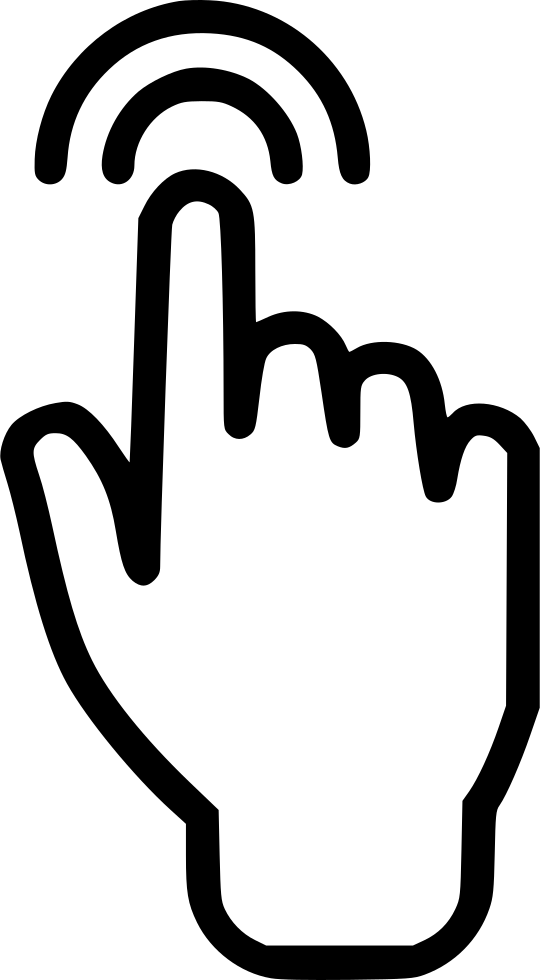 touch screen signal hand finger svg png icon free download