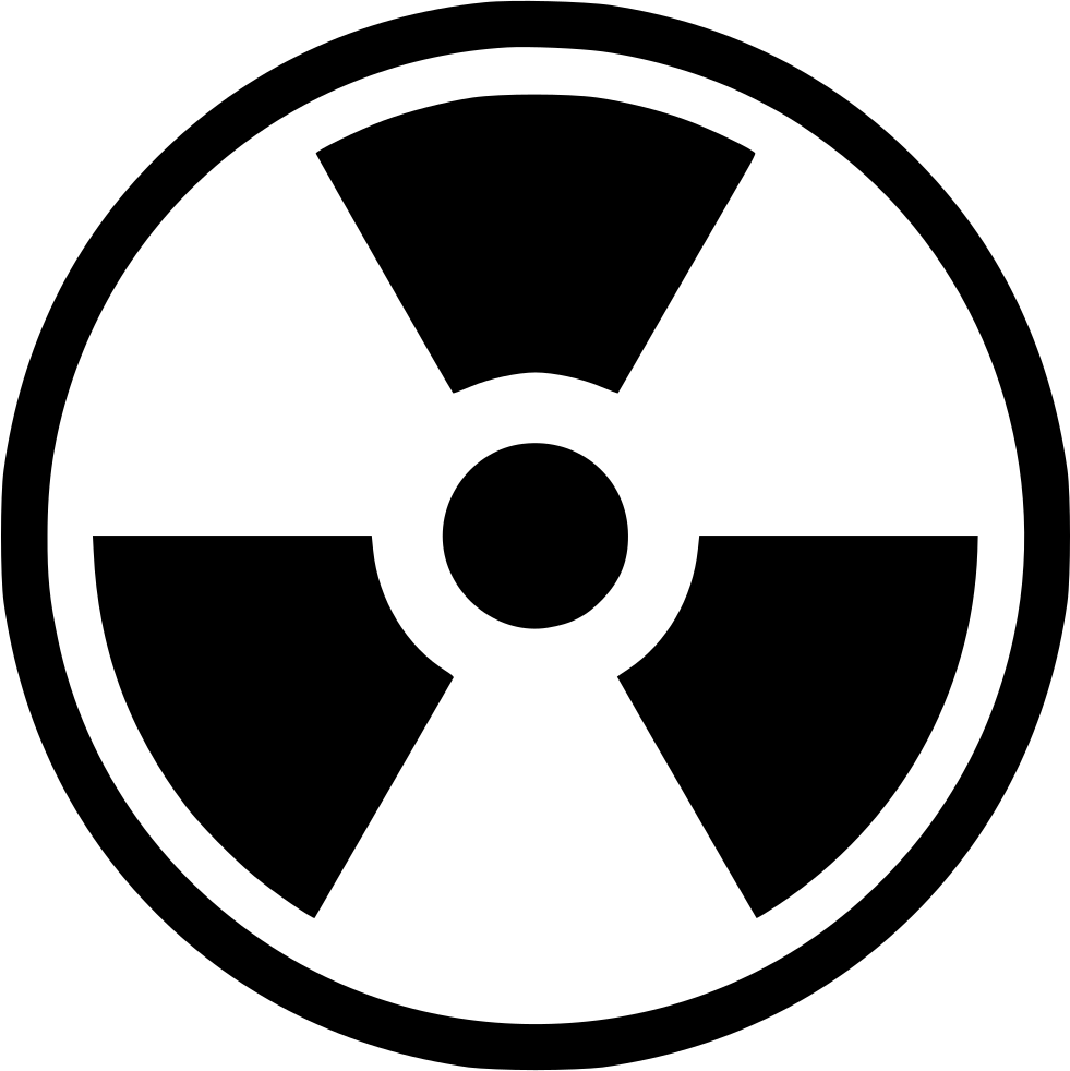 radiation nuclear worker radioactive svg png icon free