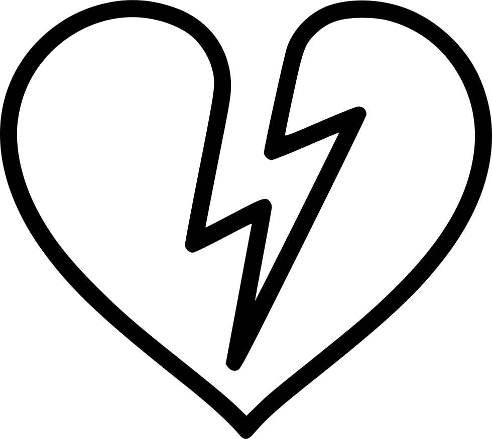 Shock Broken Heart Attack Infarct Svg Png Icon Free Download