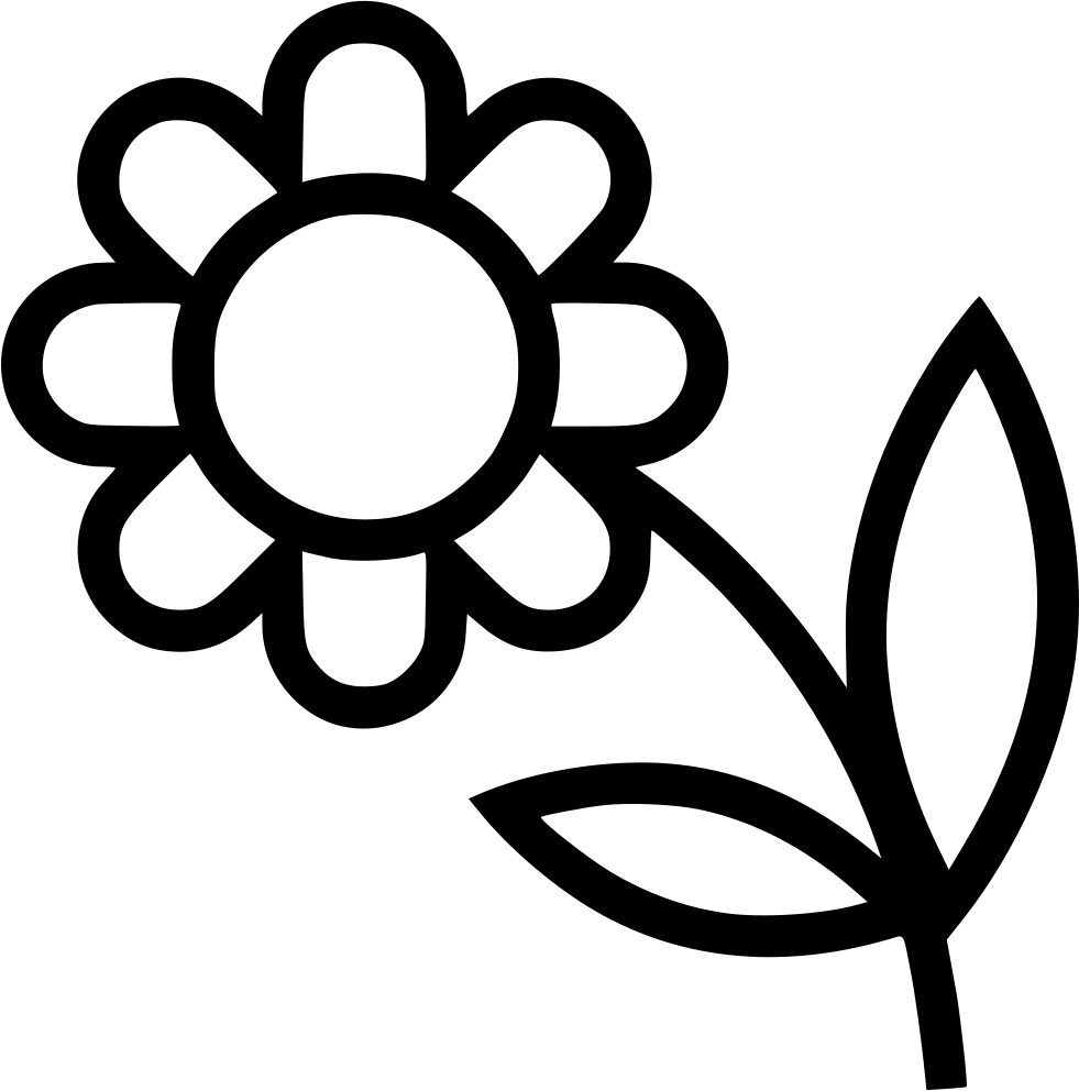 Flower Black And White Transparent Png Pictures: Flower Svg Png Icon Free Download (#498476