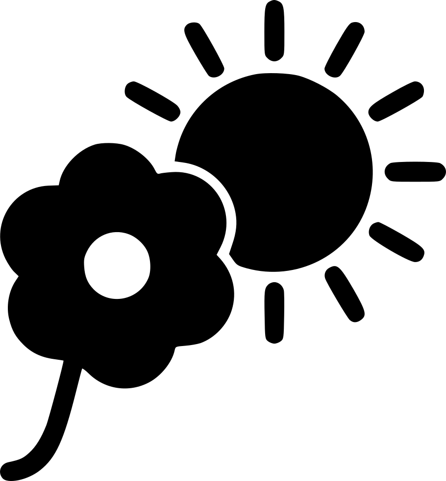 Flower In Sunlight Svg Png Icon Free Download (#498638