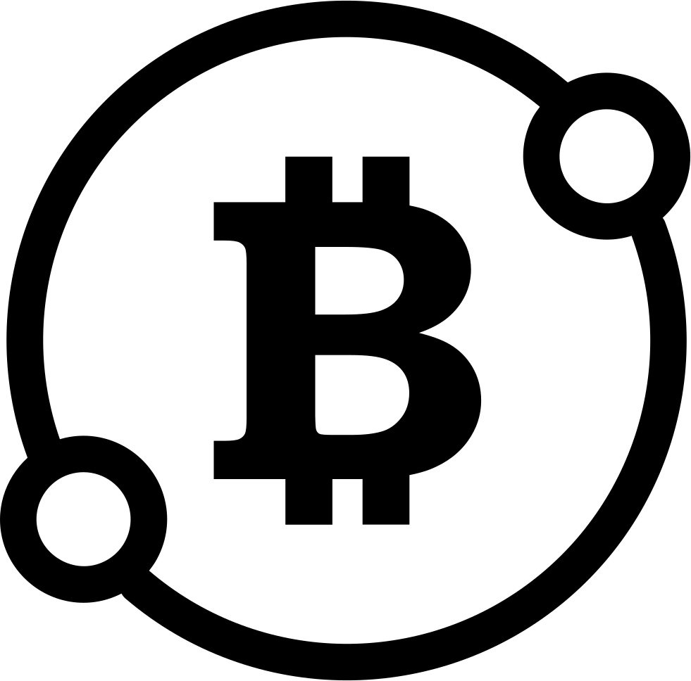 Bitcoin Sign In A Circle With Two Spots Connect Symbol Svg ...