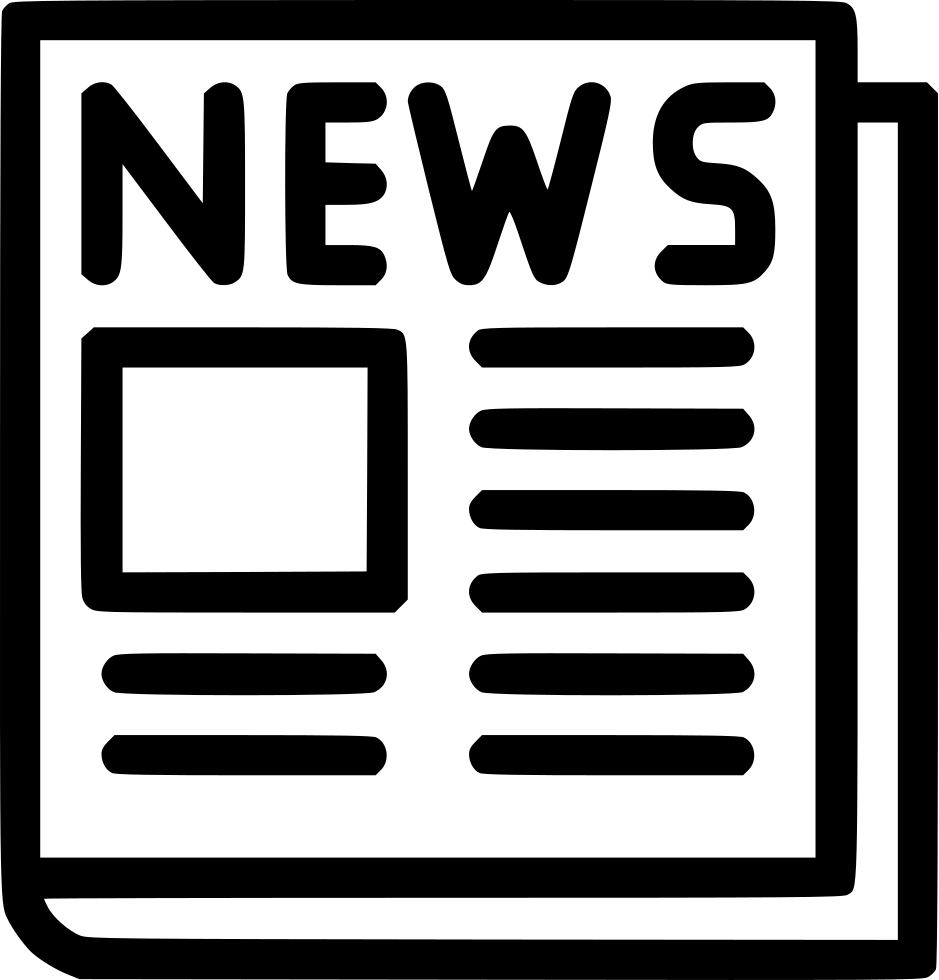 newspaper svg png icon free download (#500946) - onlinewebfonts
