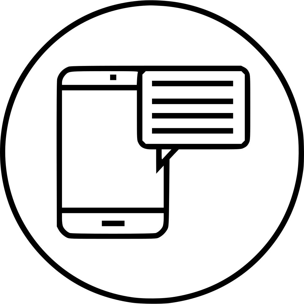 Bubble Chat Message Mobile Phone Sms Svg Png Icon Free Download
