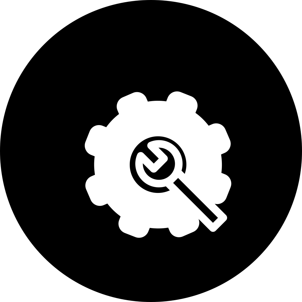 Settings Interface Symbol Variant In A Circle Svg Png Icon