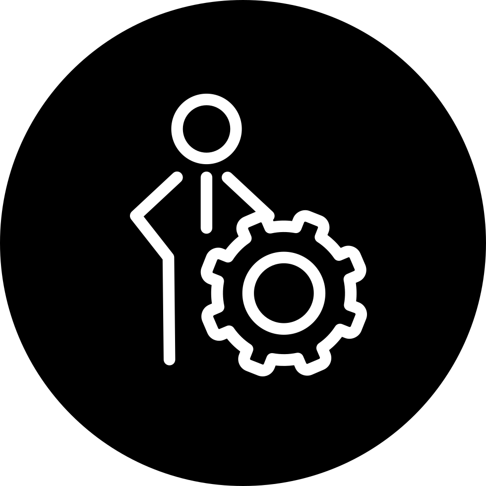 Person Settings Outline Symbol Of Seo For Interface Svg Png Icon