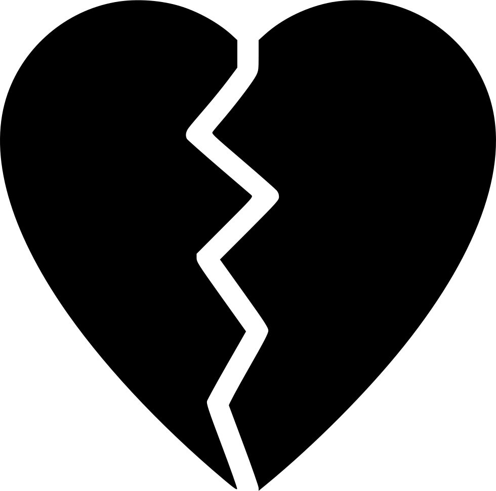 Broken heart svg png icon free download 505529 onlinewebfonts broken heart comments biocorpaavc Images