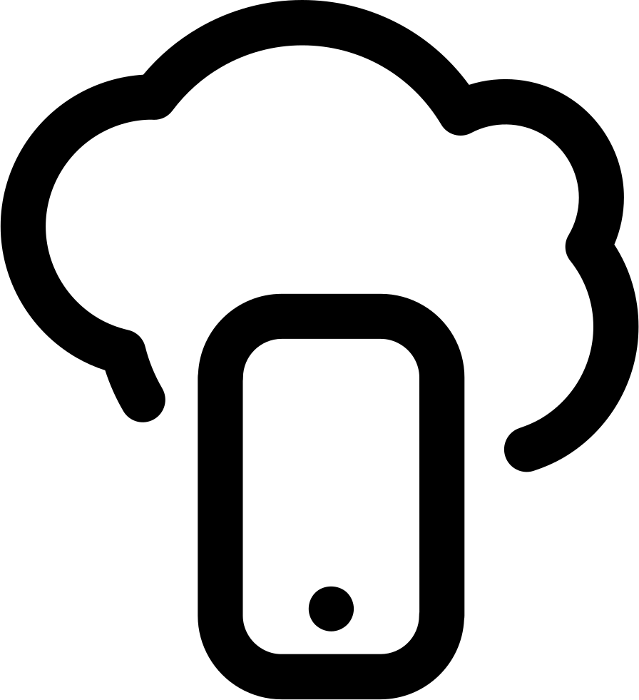 IPhone Inside A Cloud Outline Svg Png Icon Free Download