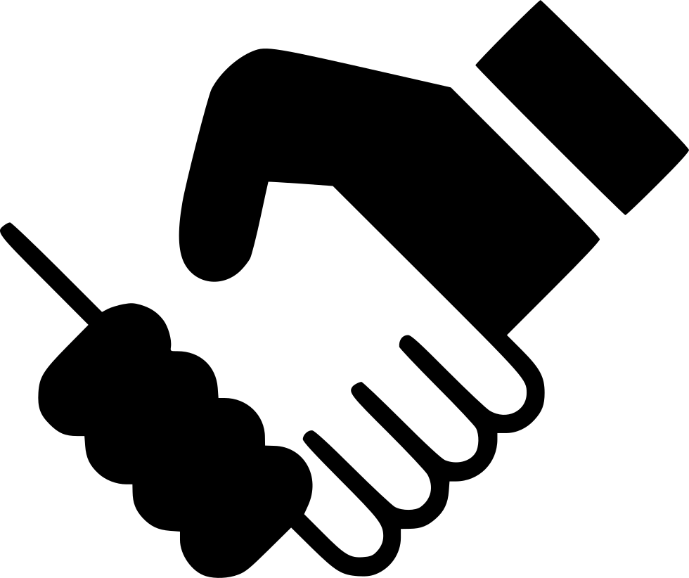 Shaking hands logo png