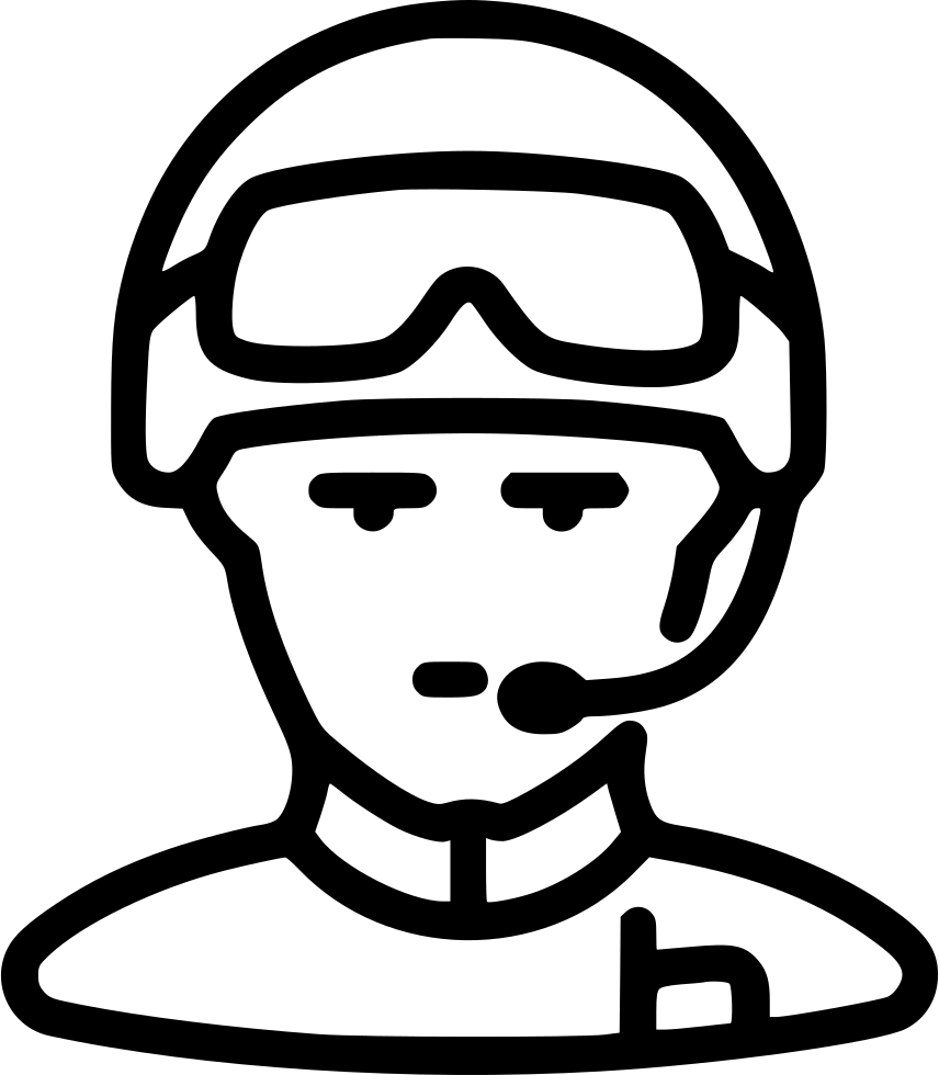 soldier helmet human avatar glasses radio svg png icon free download