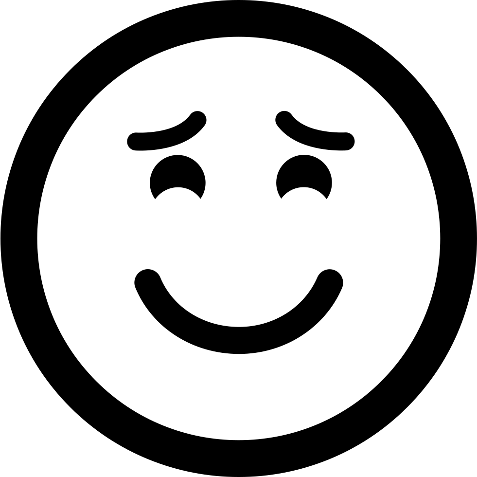 Smiling Emoticon With Raised Eyebrows And Closed Eyes Svg Png Icon