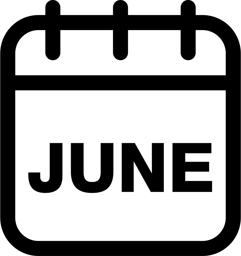 June Calendar Monthly Page Svg Png Icon Free Download ...