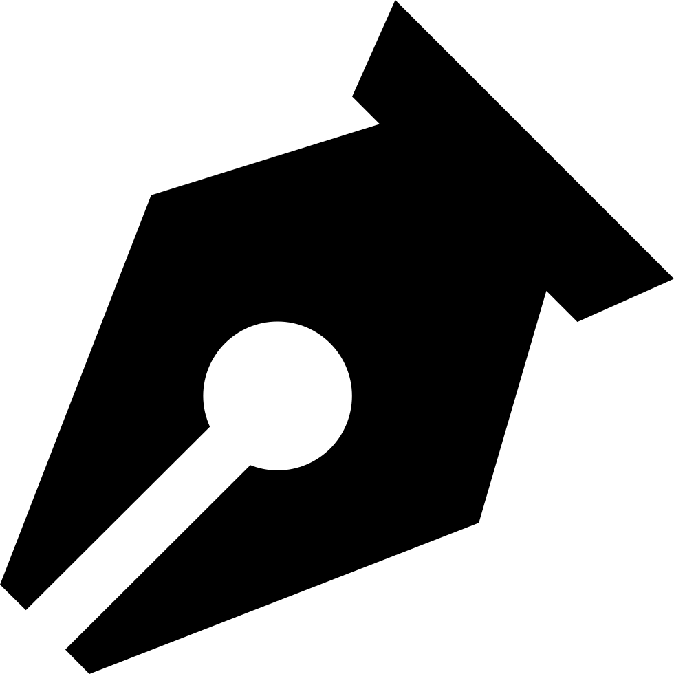 Black Pen Point In Diagonal For Writing Interface Symbol Svg Png