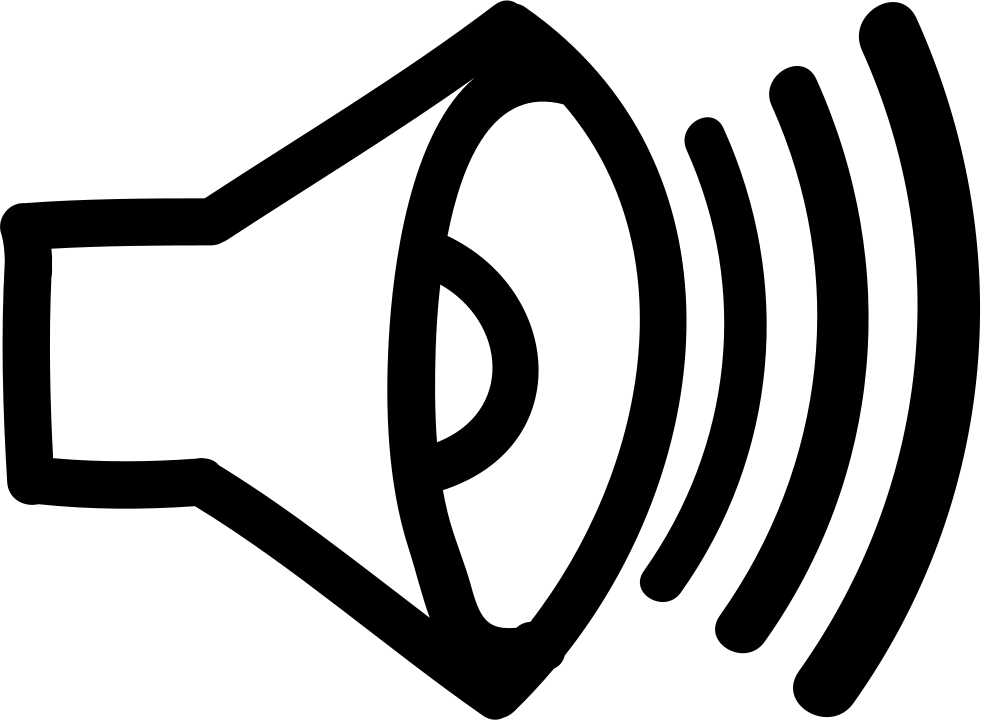 Sound Hand Drawn Interface Symbol Of A Speaker Svg Png Icon Free