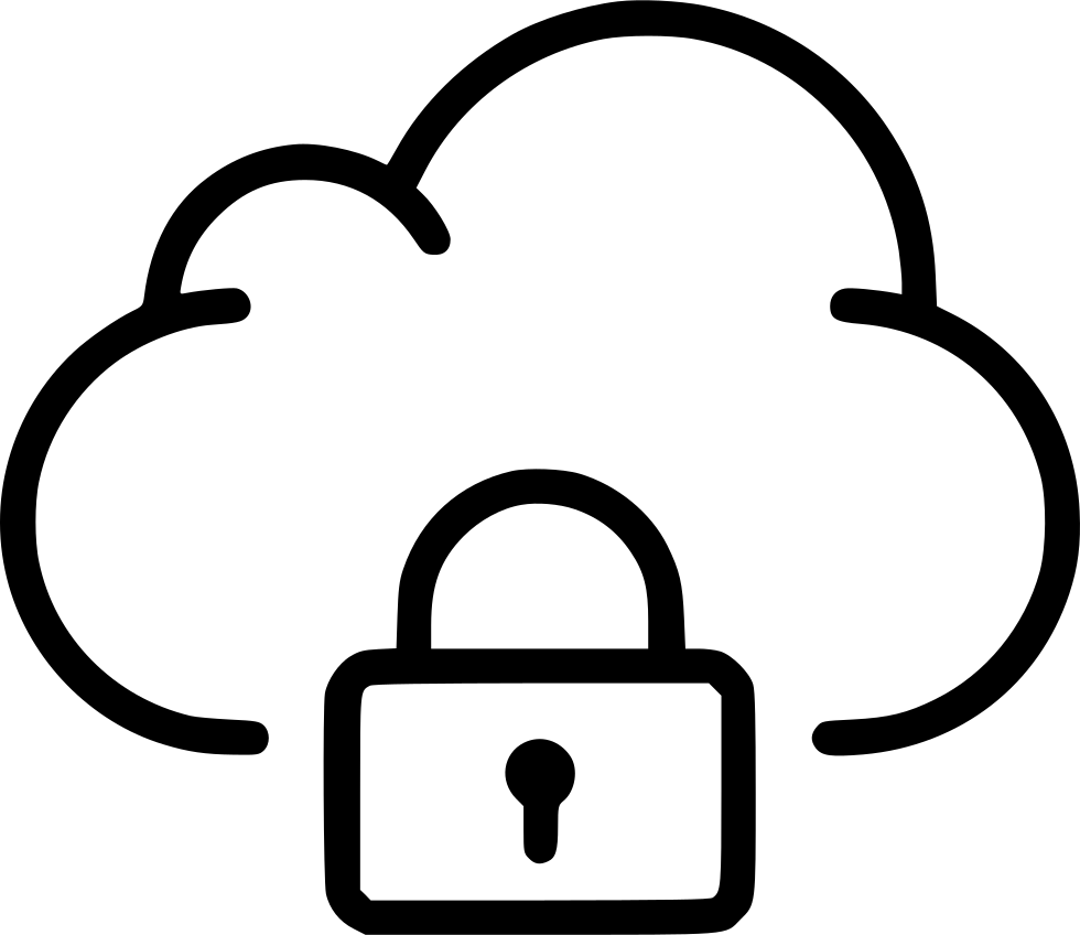 Lock Private Cloud Data Storage Svg Png Icon Free Download