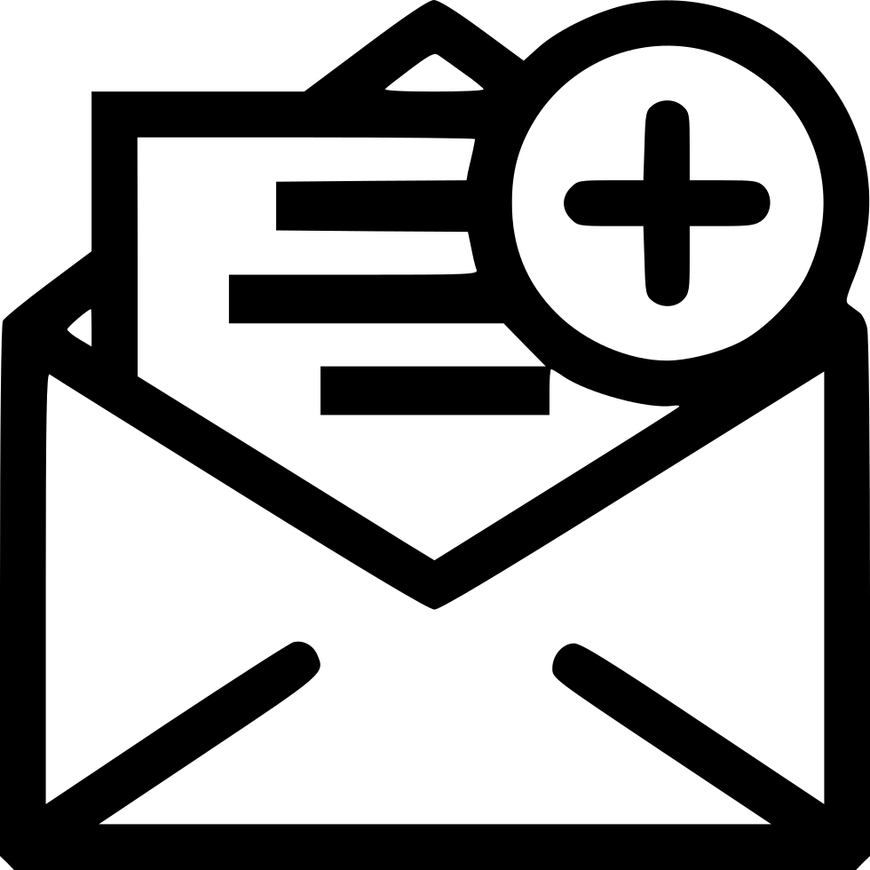 add insert plus letter newsletter svg png icon free