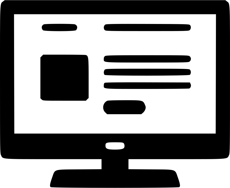 Black Computer Icon Png Computer Website Accou...