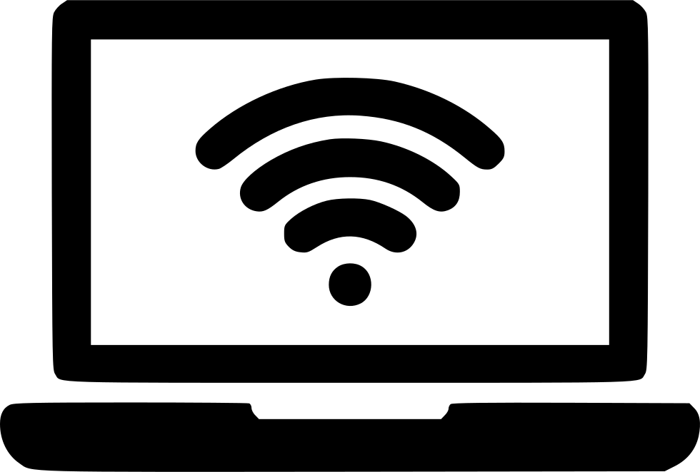 laptop wifi signal connection network configuration svg