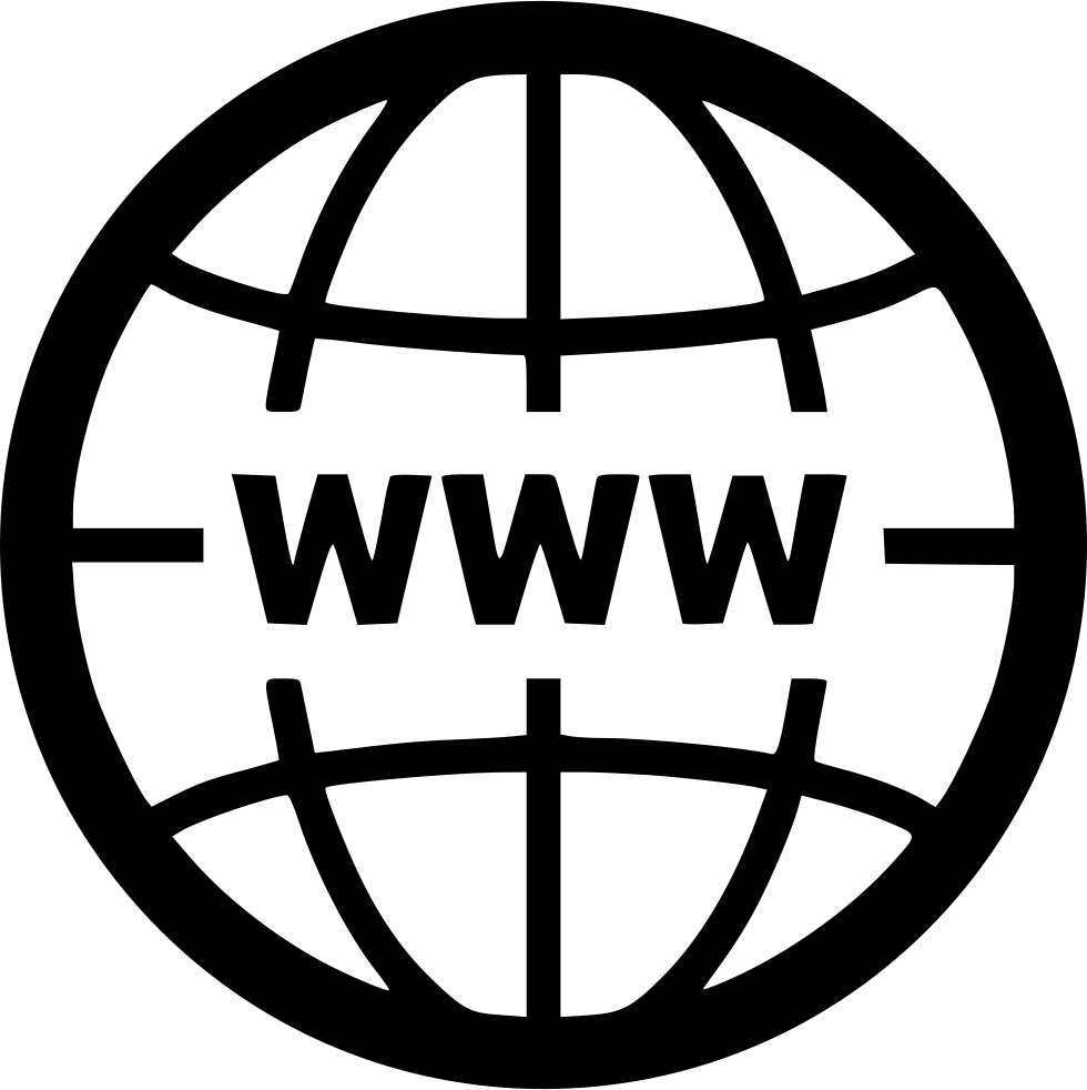 Online world wide web globe network svg png icon free for Logo sito internet