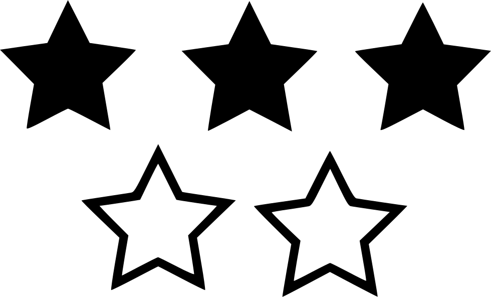 Three Star Rating Svg Png Icon Free Download 530226