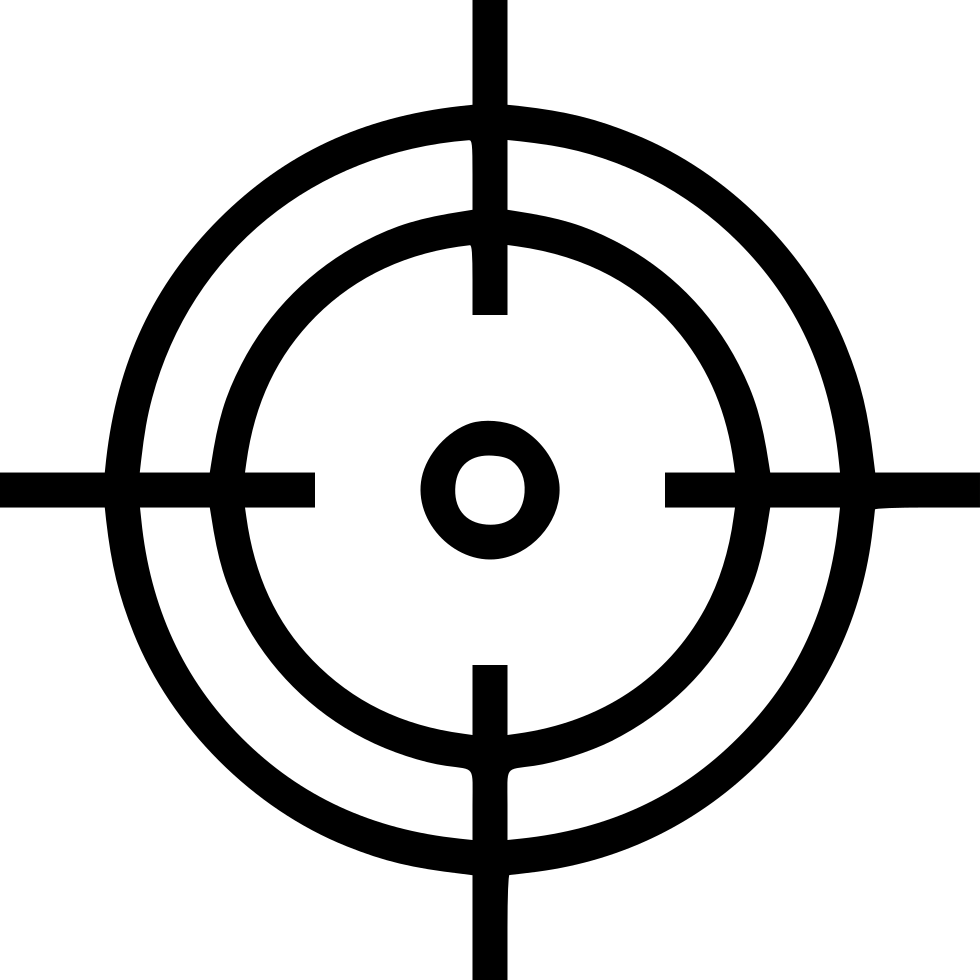 crosshair aim shoot target goal hit svg png icon free download 531891 onlinewebfonts com online web fonts